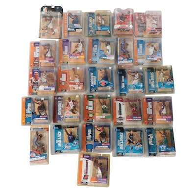 NBA Action Figure Collection Including Allen Iverson, Yao Ming, More