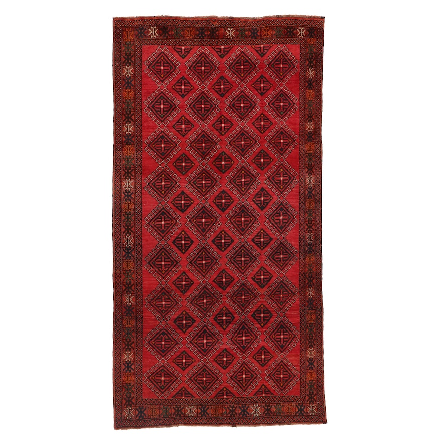 4'11 x 9'6 Hand-Knotted Persian Turkmen Wool Area Rug