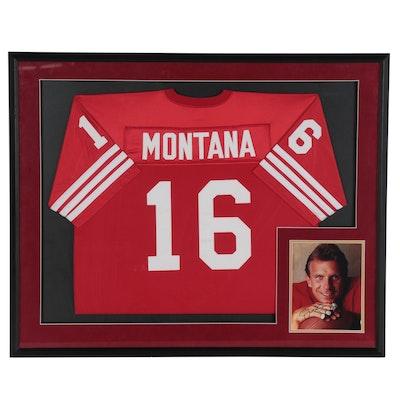 Joe Montana Framed Display Jersey with Signed Photo, JSA