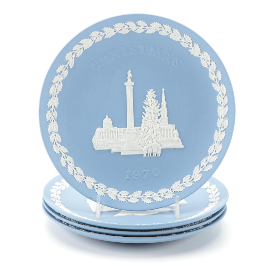 Wedgwood Annual Christmas Jasperware Plates, 1969–1972