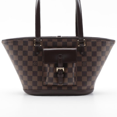 Louis Vuitton Manosque PM Tote Bag in Damier Ebene Canvas