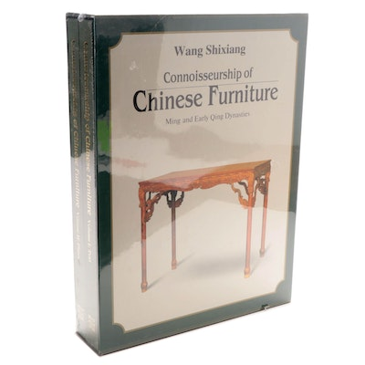 """Connoisseurship of Chinese Furniture"" Two-Volume Set by Wang Shixiang, 1990"
