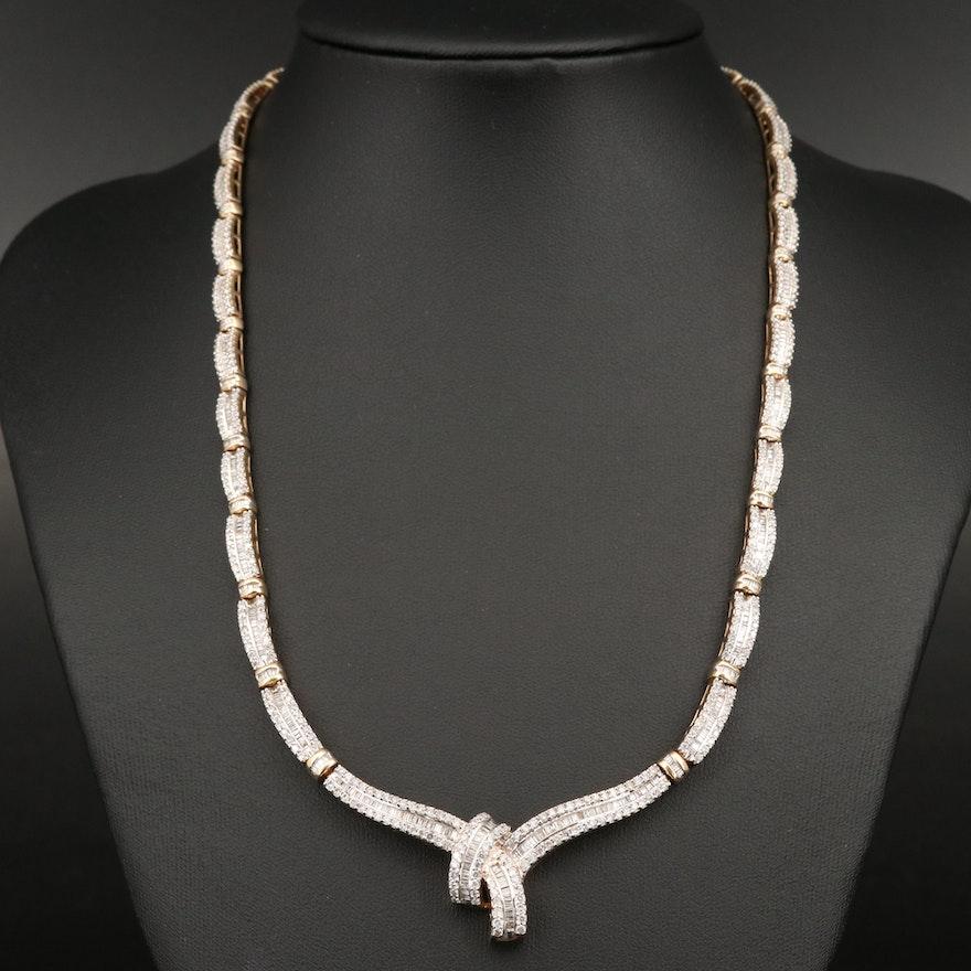 14K 5.29 CTW Diamond Necklace