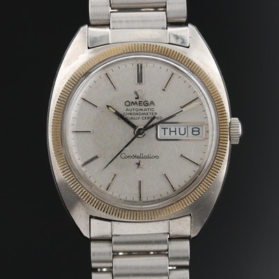 """Omega """"Constellation"""" Chronometer Day/Date Wristwatch"""