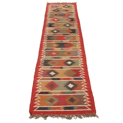 2'6 x 12'5 Handwoven Indian Jute Kilim Carpet Runner