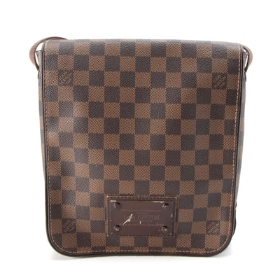 Louis Vuitton Brooklyn Damier Ebène Canvas Front Flap Crossbody