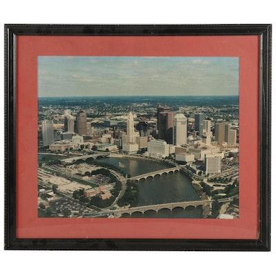 Aerial Photograph of Columbus, Ohio, Late 20th Century