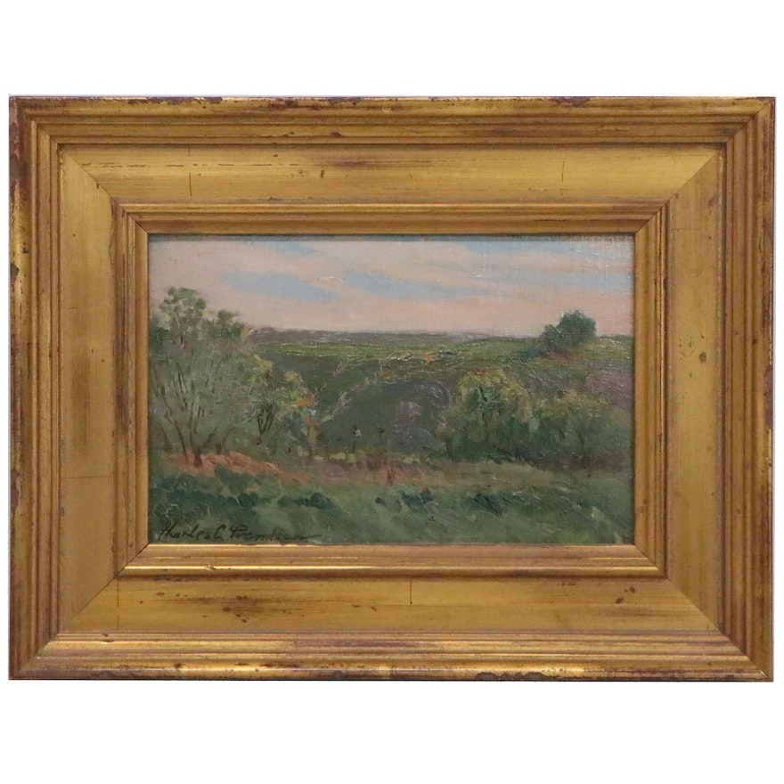 Charles Svendsen Landscape Oil Painting, Early 20th Century