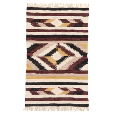 4'1 x 6'5 Handwoven Indian Cotton Dhurrie Area Rug, 2018