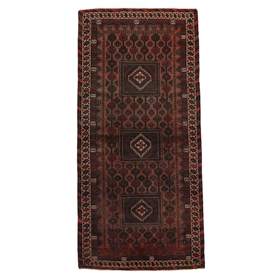 3'10 x 8' Hand-Knotted Afghan Baluch Carpet Runner
