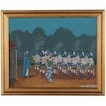 Jonson Denetclaw Navajo Oil Painting, 2001