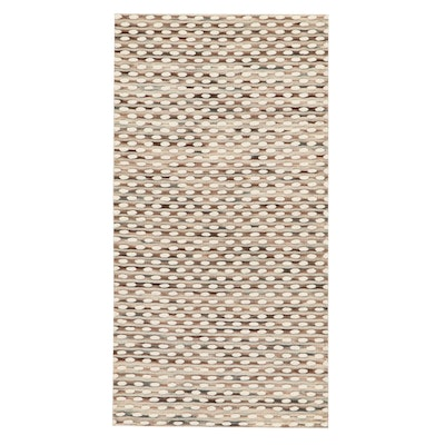 2'5 x 4'7 Handwoven Indian Wool Accent Rug