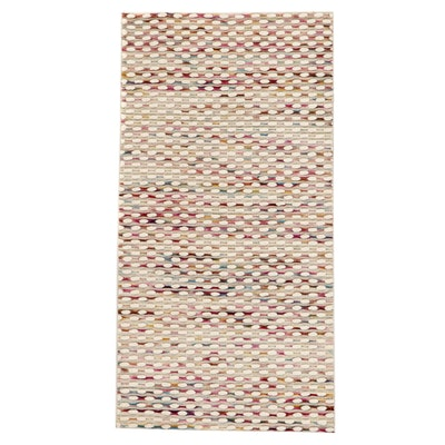 2'9 x 4'8 Handwoven Indian Wool Accent Rug