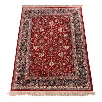 6'4 x 9'9 Hand-Knotted Indian Mahal Wool Area Rug