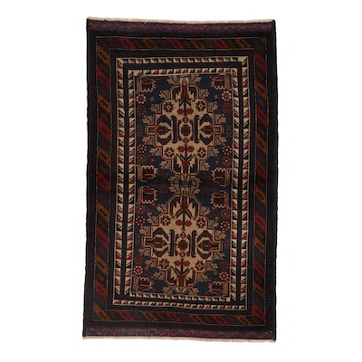 3'8 x 6'3 Hand-Knotted Afghan Baluch Area Rug