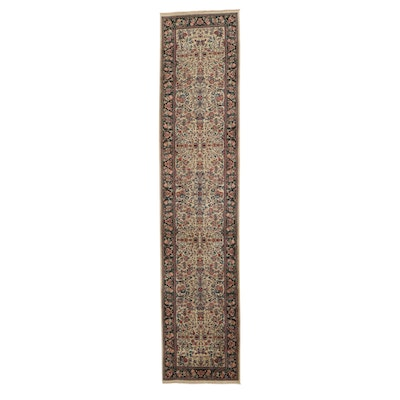 2'6 x 12' Hand-Knotted Persian Kashan Wool Carpet Runner
