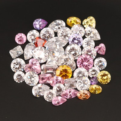 Loose Faceted Cubic Zirconia Selection