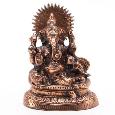 Abhaya Mudra Ganesha Metal Statue
