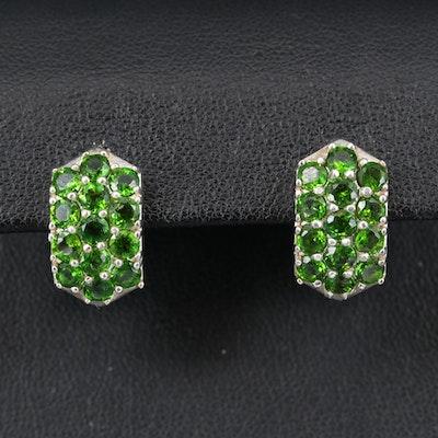Sterling Diopside Earrings