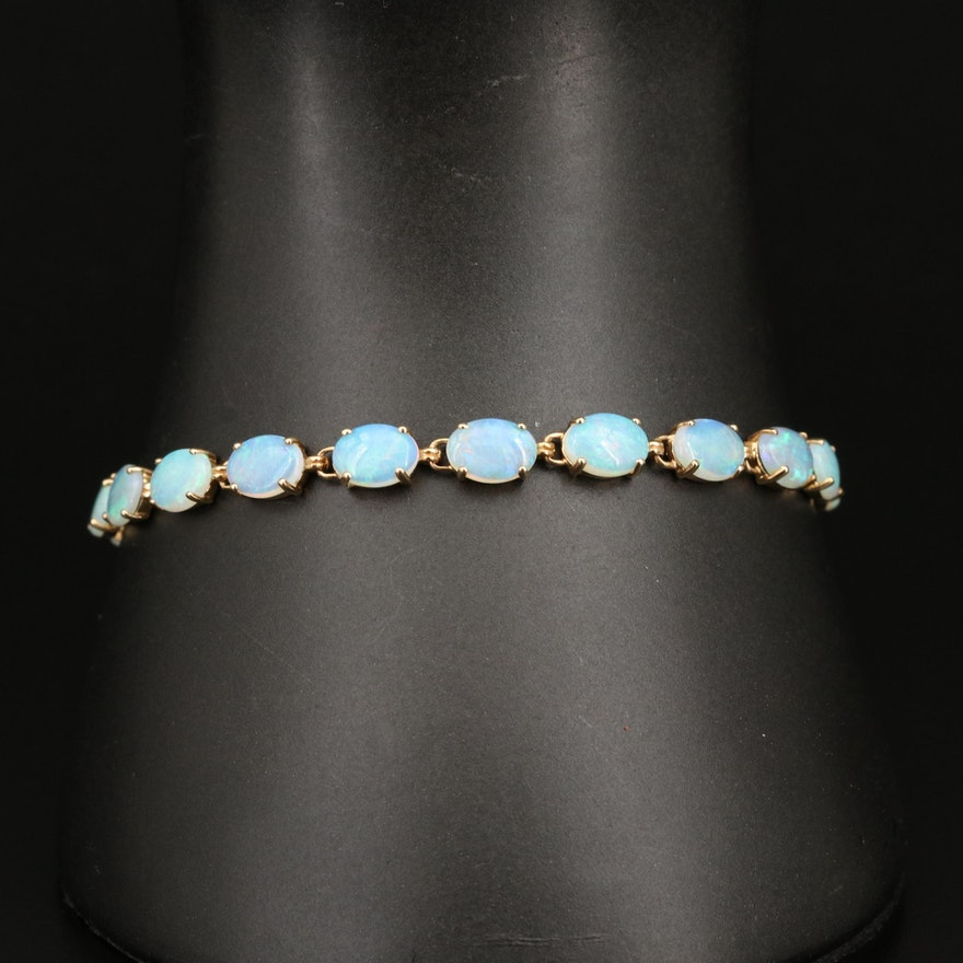 14K Opal Line Bracelet