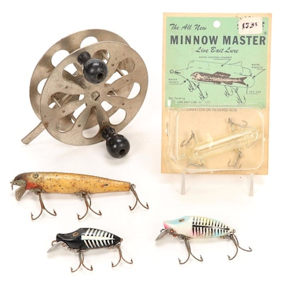 Pflueger Sea-Trolling Reel, Heddon and Other Lures