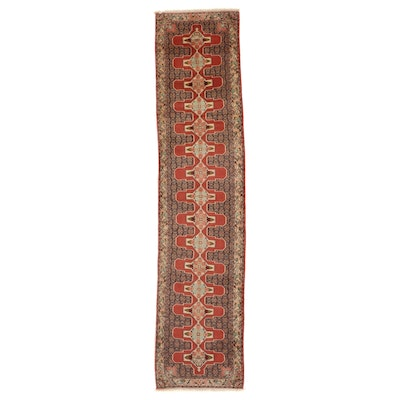 2'11 x 13' Hand-Knotted Persian Bijar Carpet Runner
