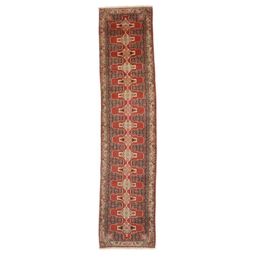 2'11 x 13' Hand-Knotted Persian Bijar Carpet Runner
