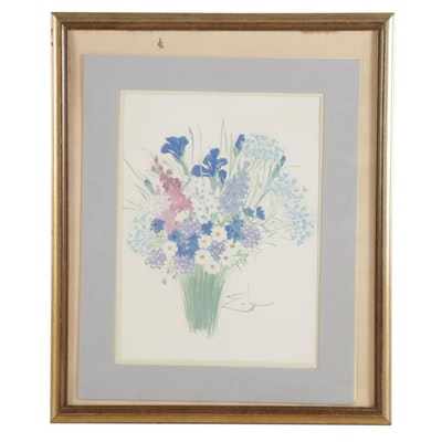 Offset Lithograph of Floral Still Life