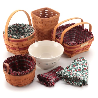 Longaberger Handwoven Maple Christmas Collection Baskets and More