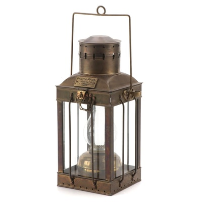 Cargo Light No. 3954 Great Britain Converted Electric Brass Lantern