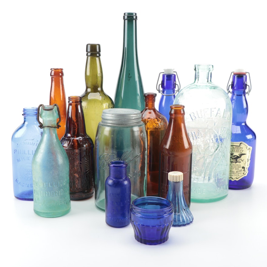 Phillips' Milk of Magnesia, Clorox, Emerson Drug Co. and Other Glass Bottles