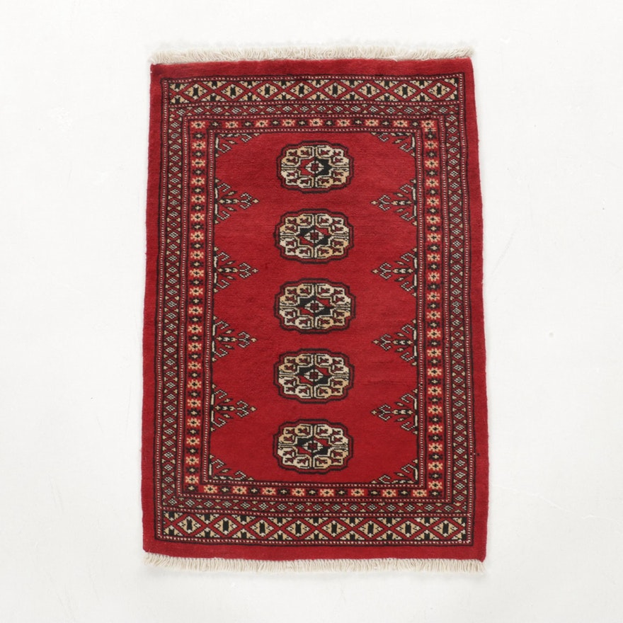 2'1 x 3'3 Hand-Knotted Afghan Bokhara Turkmen Accent Rug