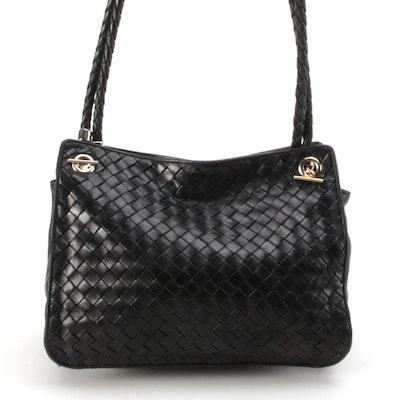Bottega Veneta Intrecciato Dark Brown Nappa Leather Shoulder Bag
