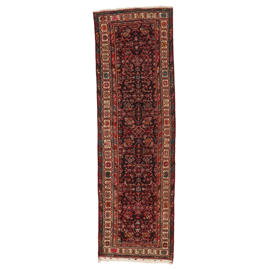 3' x 9'10 Hand-Knotted Persian Wool Carpet Runner