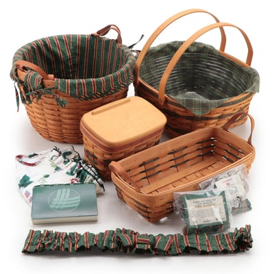 Longaberger Handwoven Maple Apple Basket, Community Basket and More Baskets