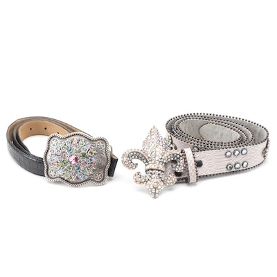 Miss J Designs and Nocona Belt Co. Embellished Leather Belts