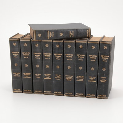 """Kipling's Works"" Sahib Edition Complete Ten-Volume Set, c. 1915"