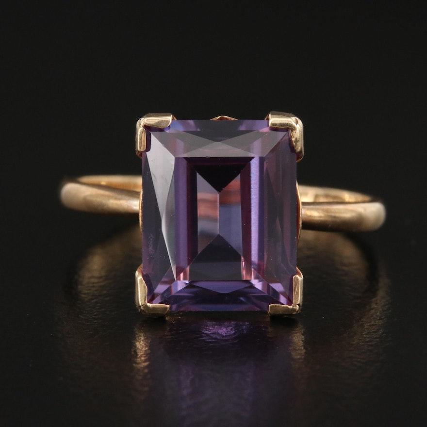 Vintage Plainville Stock Co. 10K Sapphire Ring