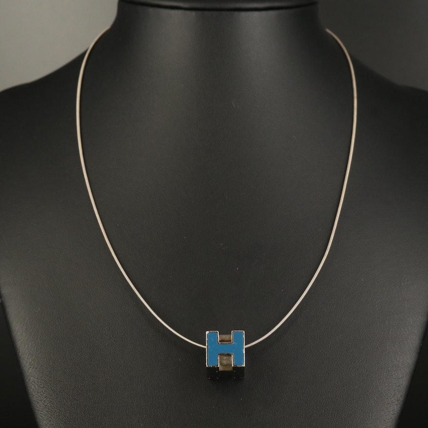"""Hermès """"H Cube"""" Pendant Necklace"""