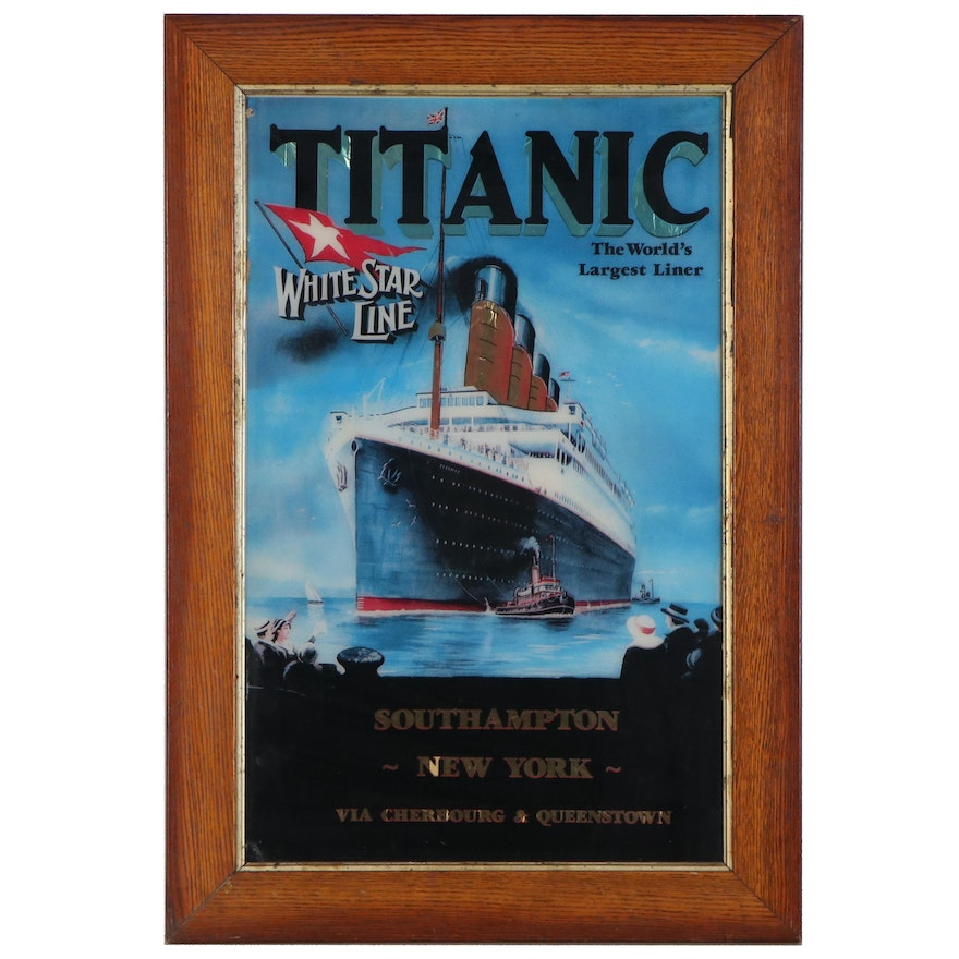 """Offset Lithograph Poster after P.C. Fussey """"Titanic White Star Line"""""""