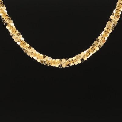 Italian Milor Sterling Fancy Link Chain with Adjustable Length Slide