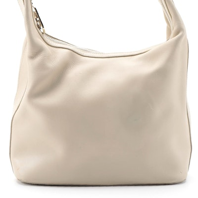 Gucci Light Beige Leather Shoulder Bag