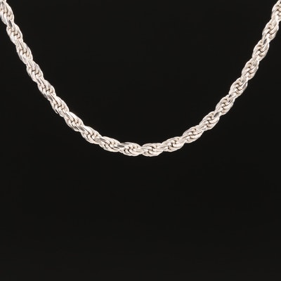 Italian 14K French Rope Chain Necklace