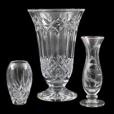 "Waterford ""Balmoral"" Crystal Flower Vase with Marquis by Waterford Bud Vases"