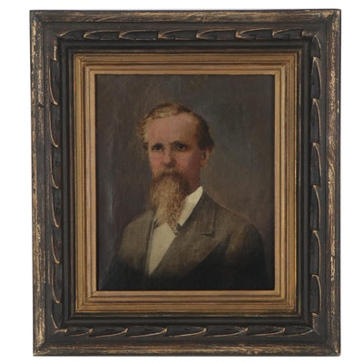 American School Oil Portrait of a Gentleman, circa 1878