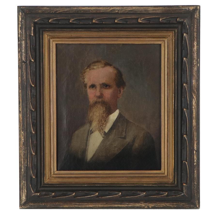 American School Oil Portrait of a Gentleman, circa 1878