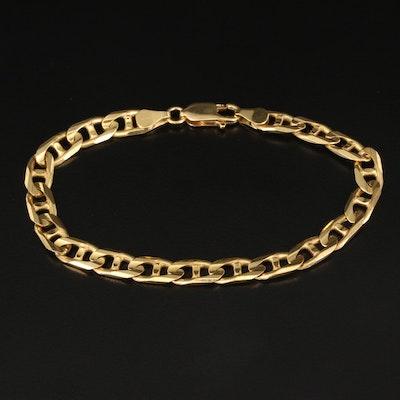 Italian 14K Anchor Chain Bracelet