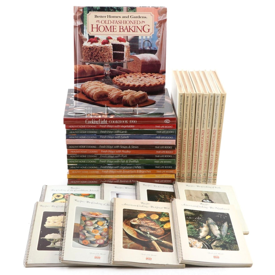 Time-Life Books and Better Homes and Gardens Cookbooks