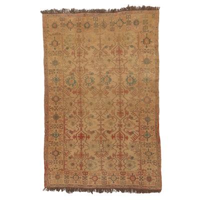 6'10 x 11'0 Handwoven Turkish Caucasian Soumak Rug, 1930s