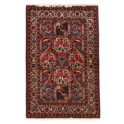 3'3 x 5'2 Hand-Knotted Persian Bakhtiari Wool Area Rug